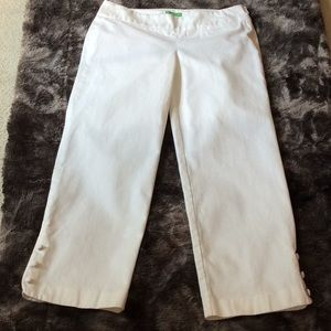 Lilly Pulitzer white crop pants